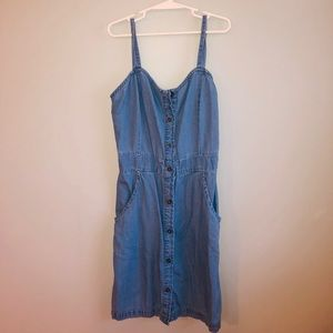 Lightweight Fitted Jean Dress